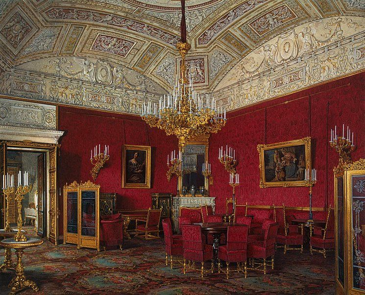 Interiors of the Winter Palace. The Large Drawing Room of ...