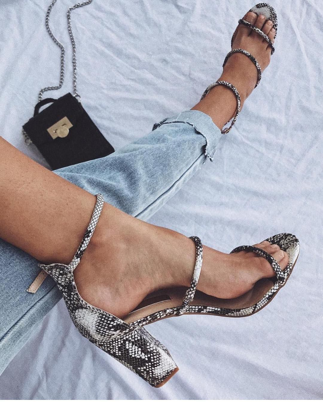 bc9442c1ac6 Marlie grey snake in 2019 | Everything GLAM | Heels, Shoes, Fashion
