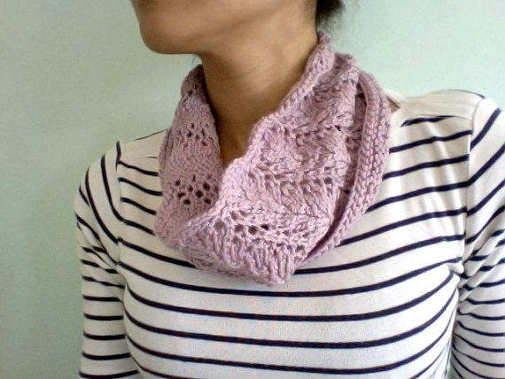 Lace cowl in Pink by Tickledpinksheep on Etsy, £18.00
