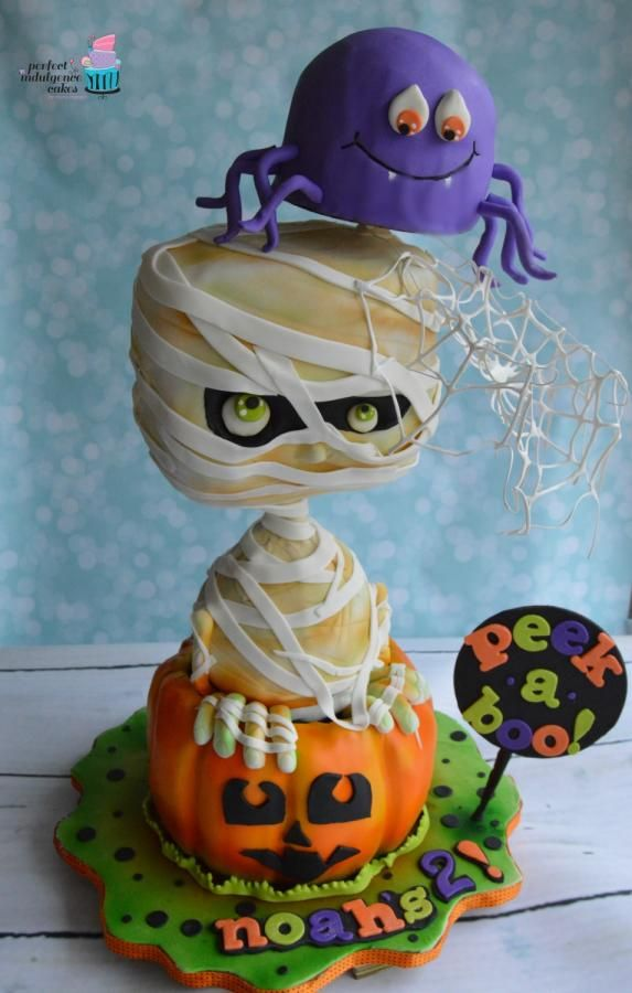 Peeking Chibi Mummy - Cake by Perfect Indulgence Cakes Cakes