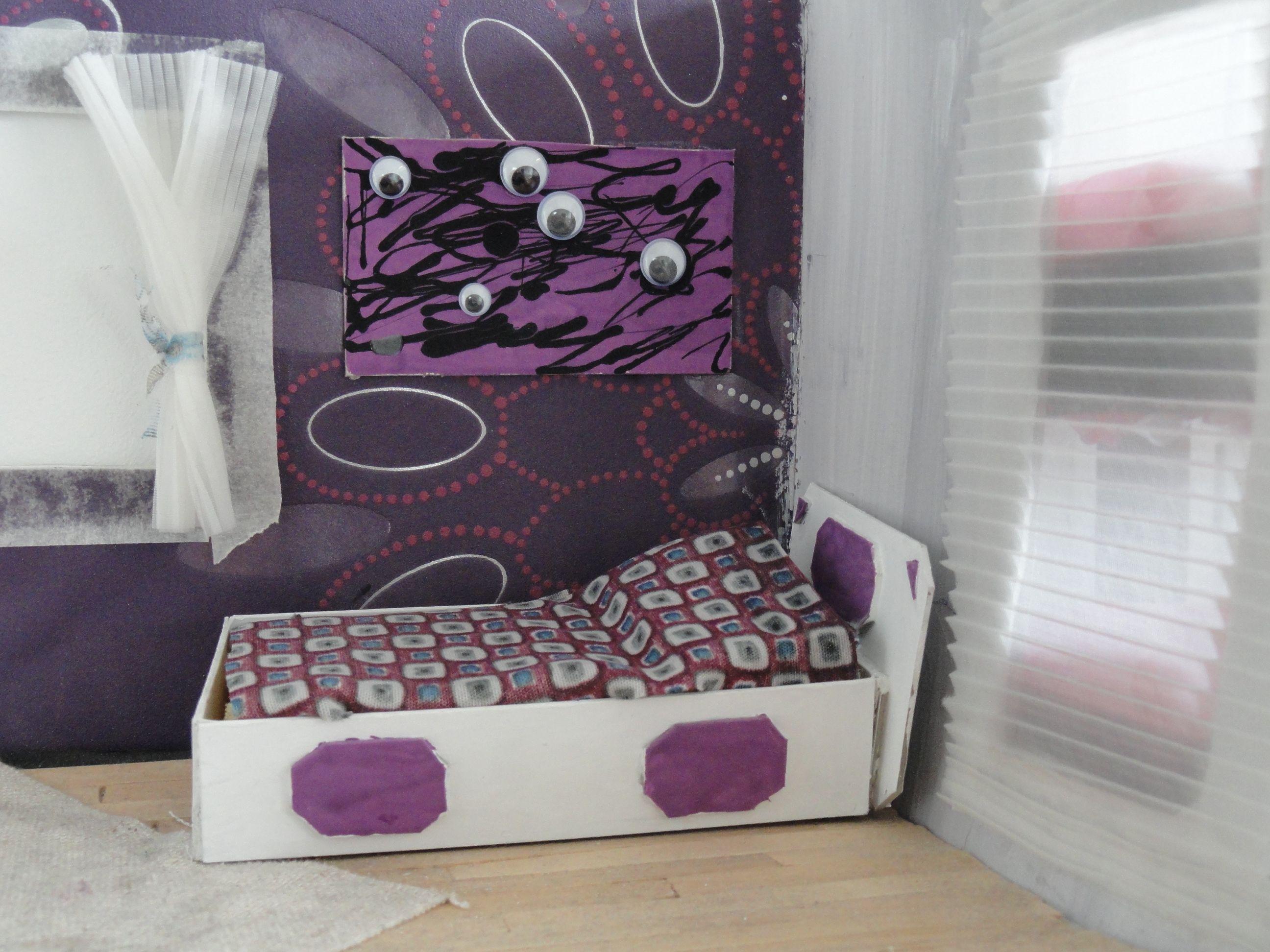 Voorbeeld maquette slaapkamer interieur 3d pinterest - Geschilderd slaapkamer model ...