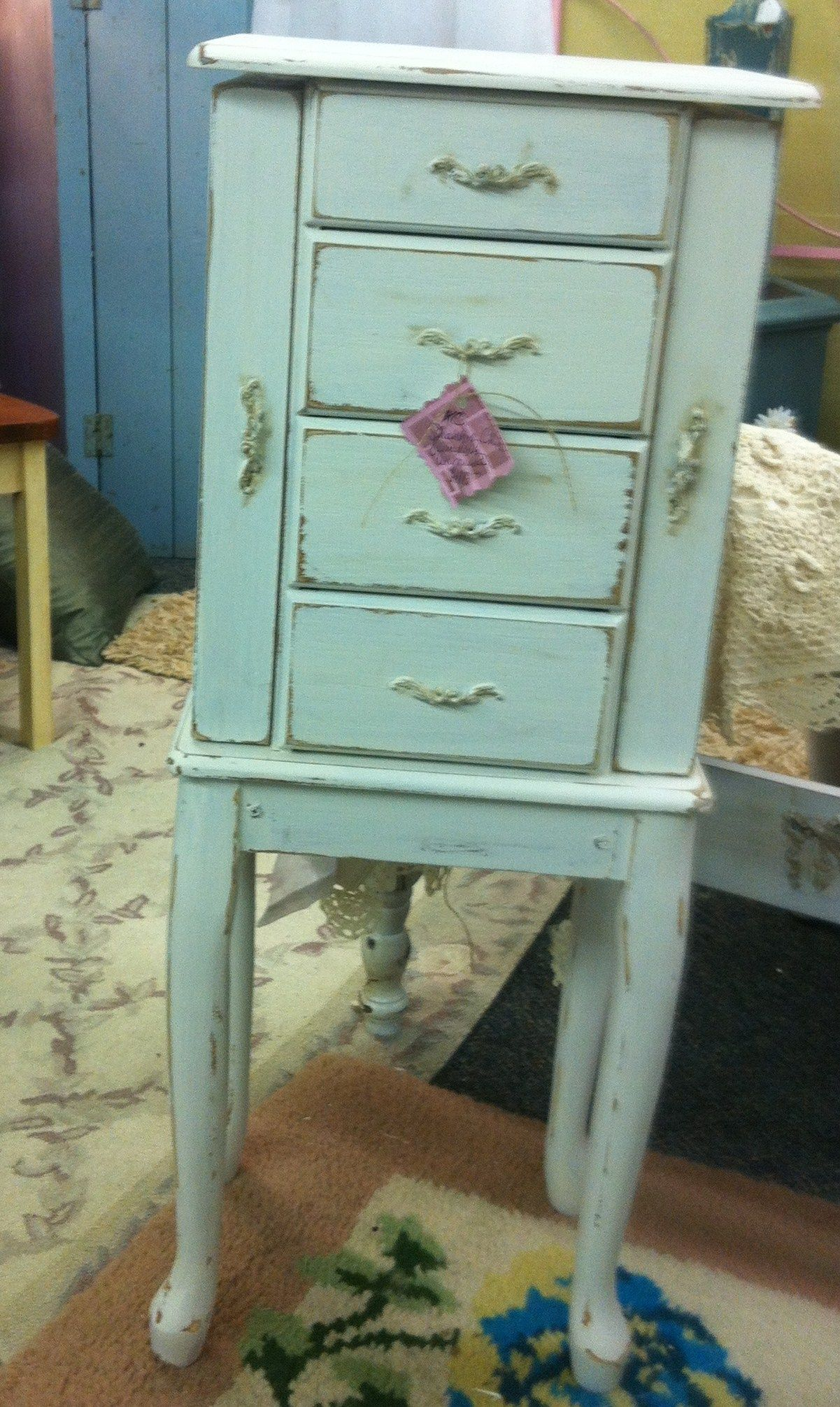 Shabby Chic Jewelry Armoires : shabby, jewelry, armoires, Shabby, Jewelry, Armoire, Jewellery, Armoire,, Painted, Suitcase,