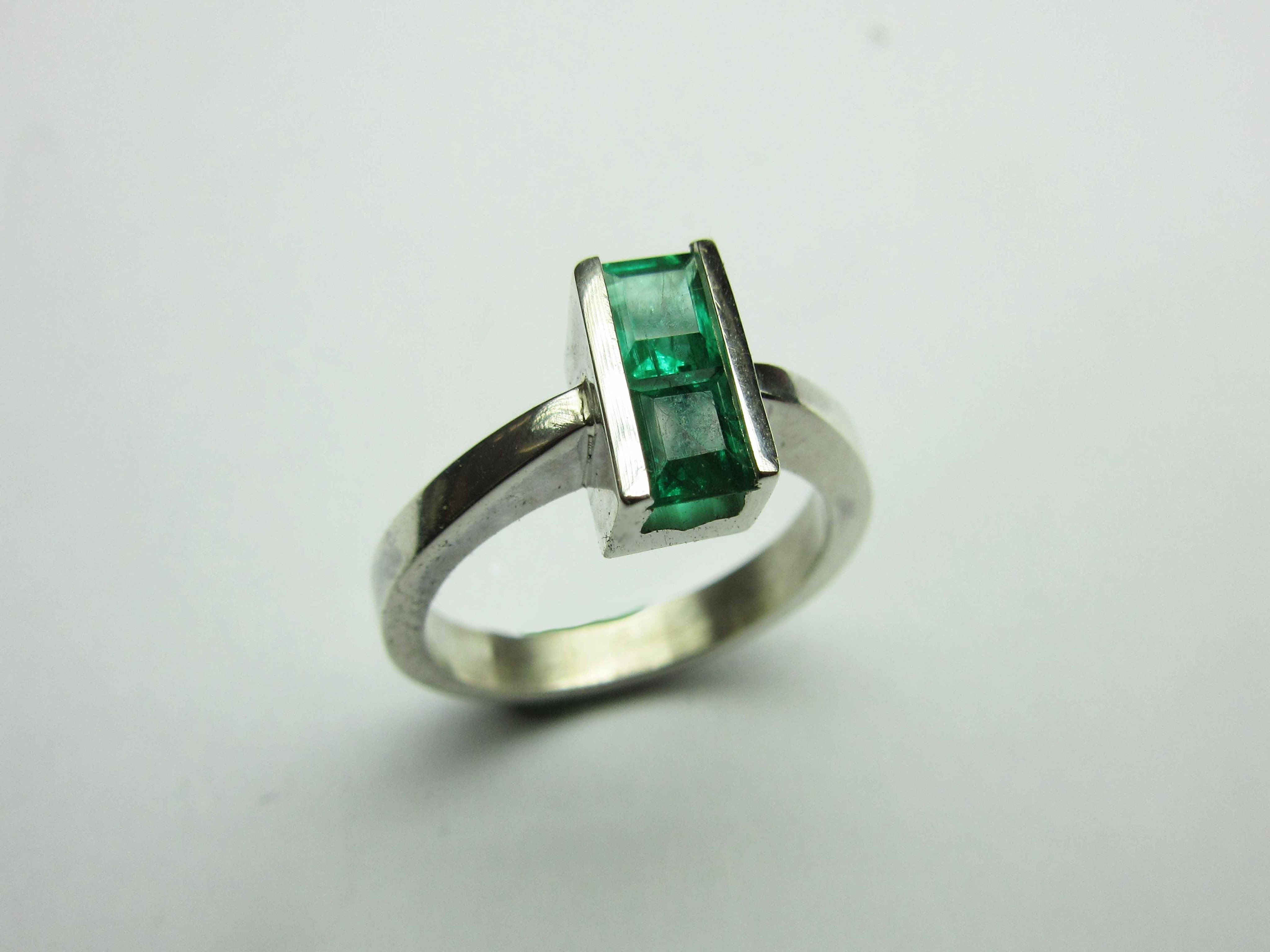 Two square stone ring | Kuyum Dersleri - Jewellery Tutorials | Pinterest