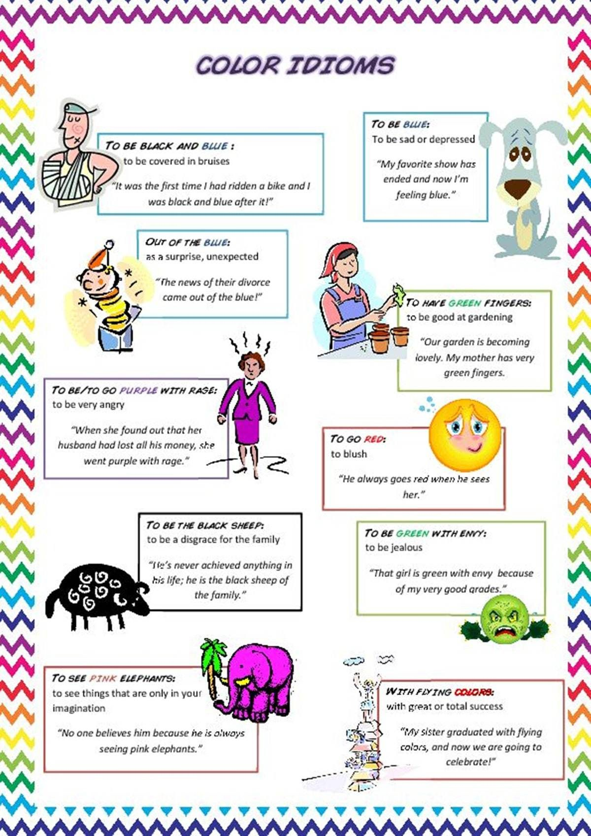 Awesome Color Idioms That Will Improve Your English Fluency