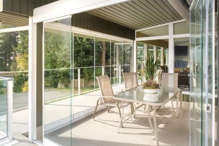 Retractable Glass Walls For Sunrooms Balcony Enclosures Glass