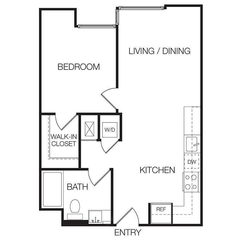 1 Bedroom Loft Apartment: One Bedroom Floor Plans For Apartments Images Gorgeous