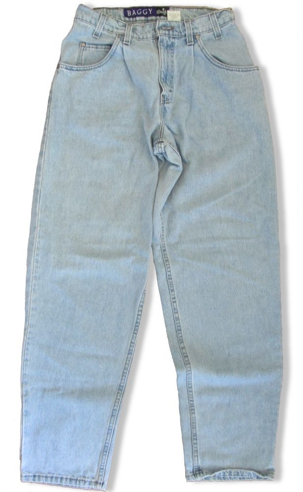 Mens Levis SilverTab Baggy Jeans Light Blue Denim 30 x 32 Loose Fit 5  Pocket #