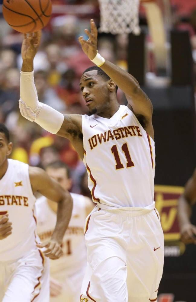 Iowa State Guard Monte Morris 11 Passes The Ball During The