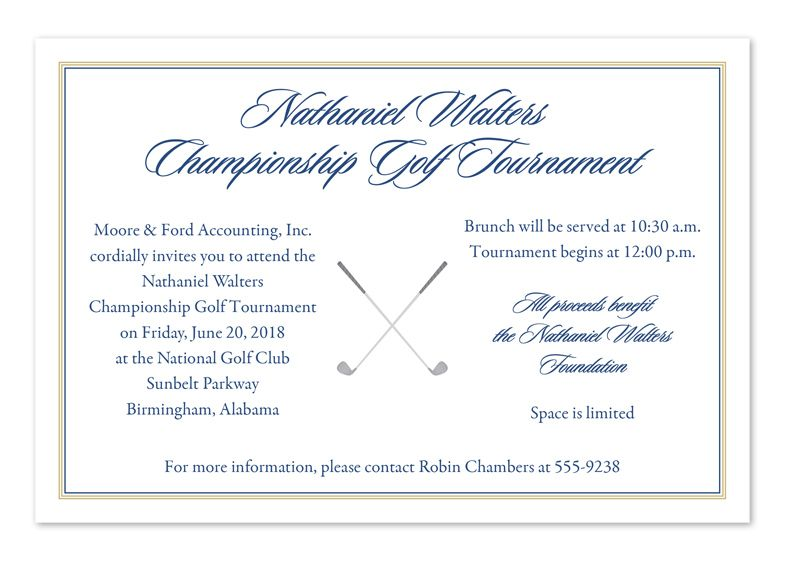 Simple Golfer\u0027 by Invitation Consultants Company Cards Pinterest - Formal Invitation Letters
