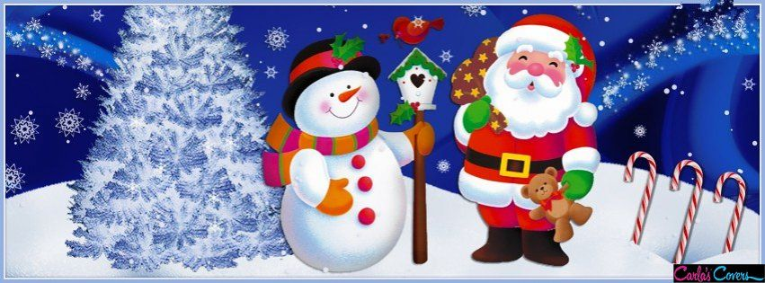 Cute Santa Snowman Facebook Covers (With images) | Wish ...
