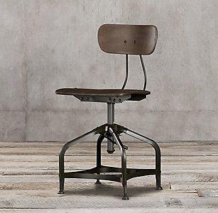 All Metal Seating Rh Chaise Bar Chaise De Bureau Vintage Chaise