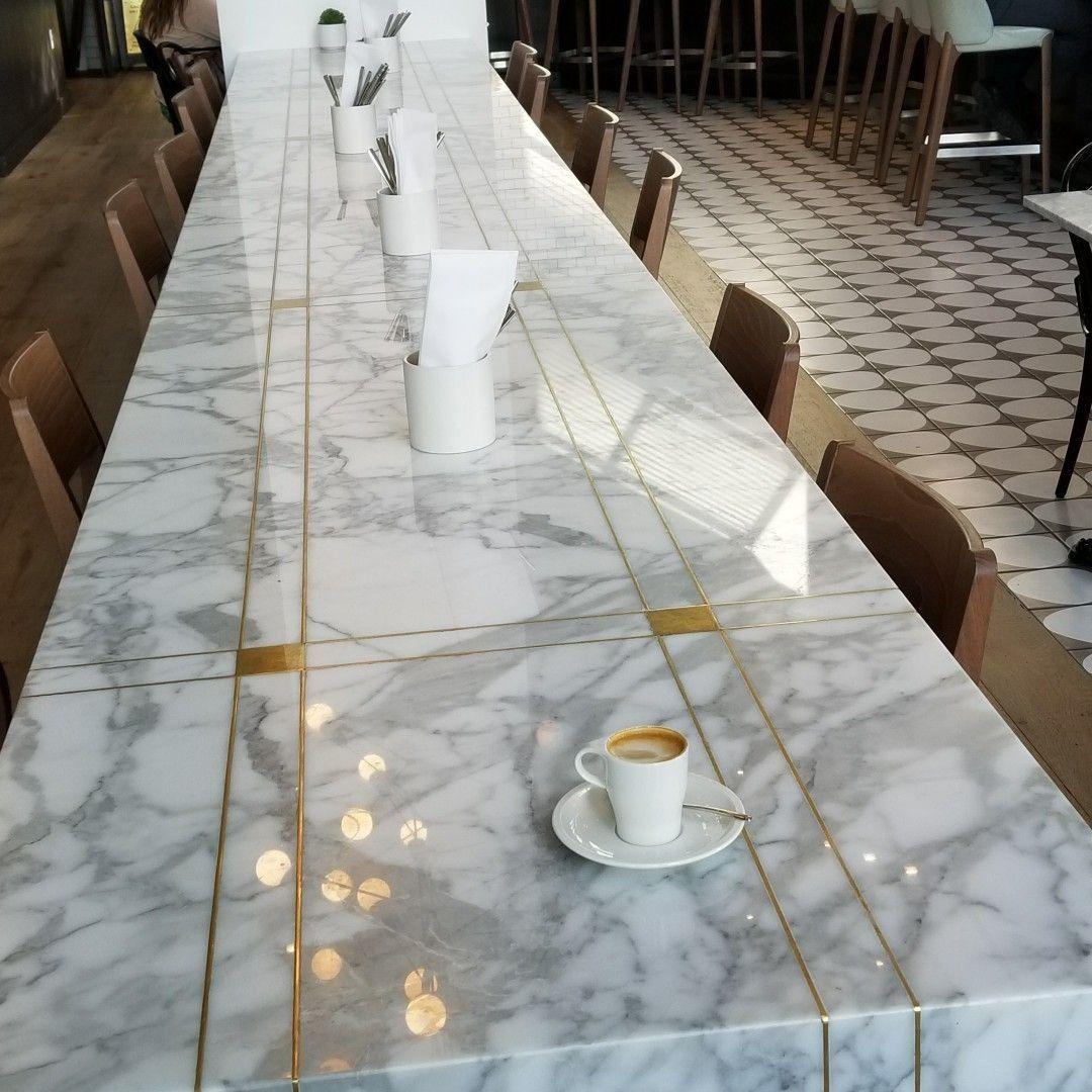 Brass Inlay Work Marble Inlay Floor Dining Table Marble Inlay