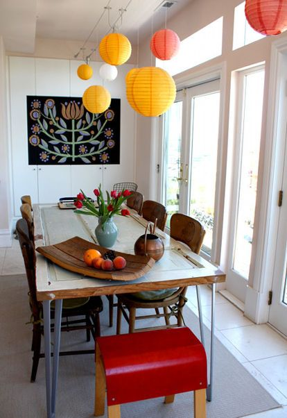 Fabulous Ways To Repourpouse Old Doors DoorsDining Room TablesOld
