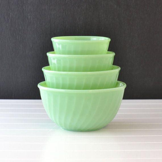 Fire King Jadeite Jadeite Jadite Swirl Mixing by Jadeite4sale, $125.00