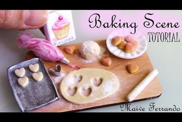 Miniature Cookie Baking Scene Tutorial