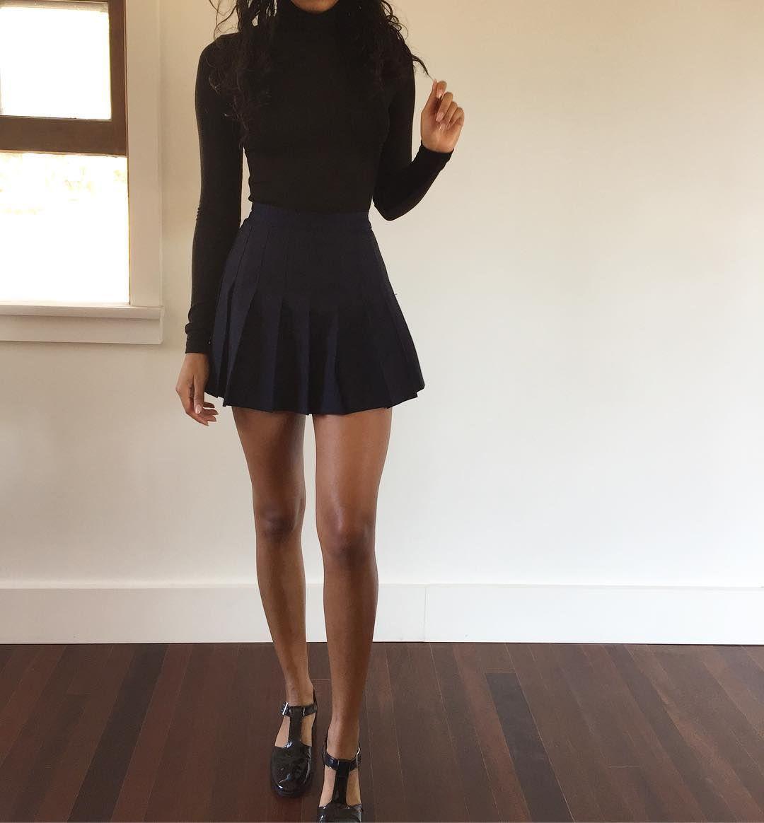 American Apparel Tennis Skirt In Black Size Large American Apparel Tennis Skirt Tennis Skirt Outfit American Apparel Skirt
