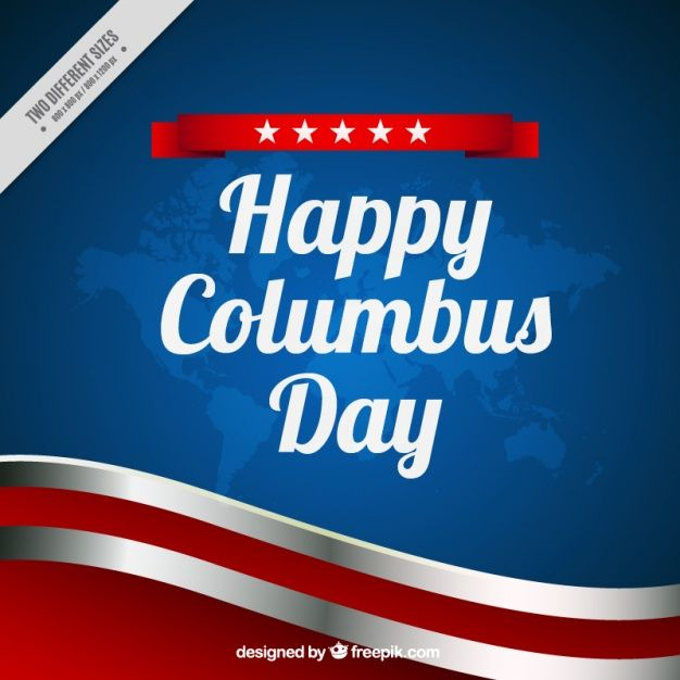 Download Wavy Background Of Columbus Day For Free