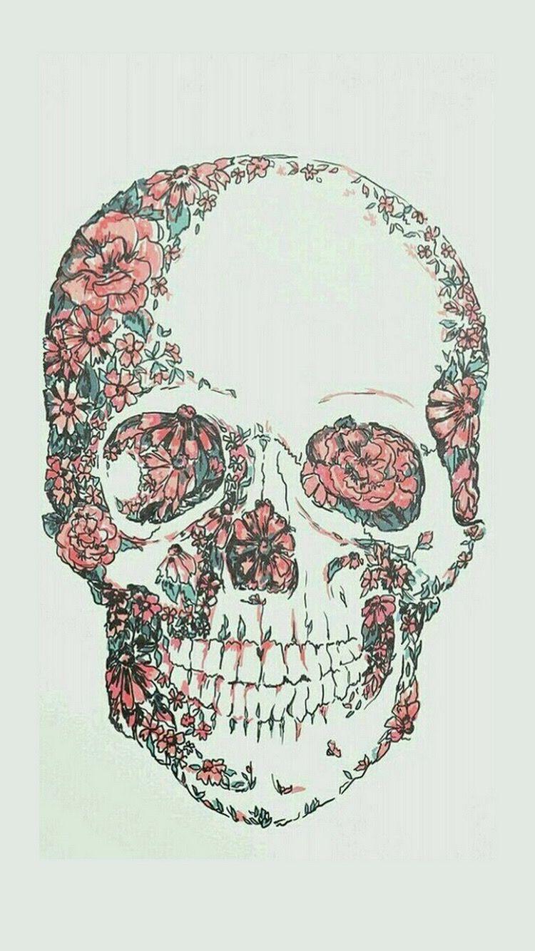 Wallpapers Bmc Skull Wallpaper Art Floral Skull