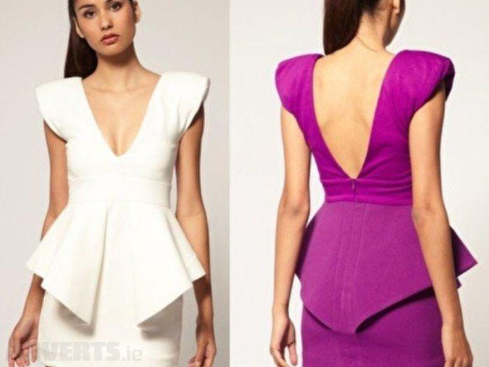 Aqua Claudia Structured Peplum Mini Dress - Celebrities who wear
