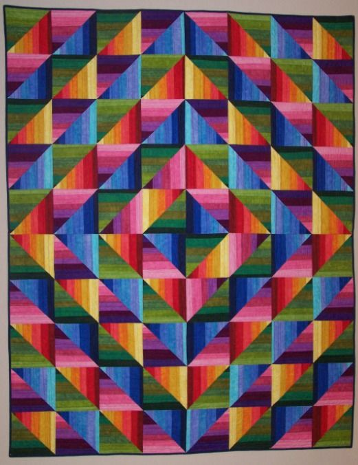 Dimples Rainbow Strata Quilt Kit At Gail Kessler S