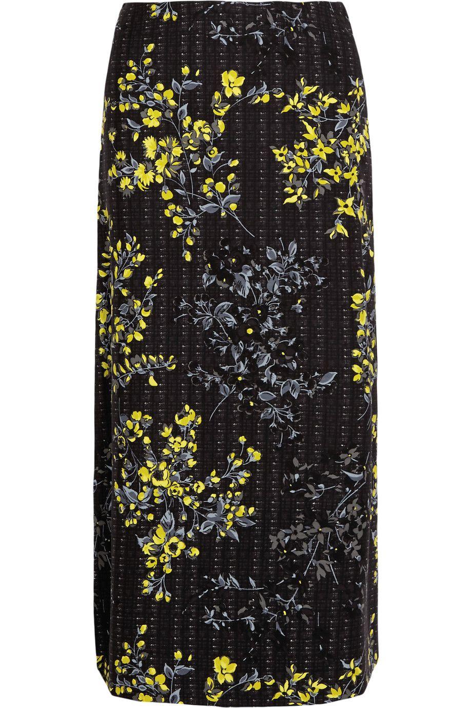 bb7acdca0 MARNI Floral-Print Cotton, Wool And Silk-Blend Skirt. #marni #cloth #skirt