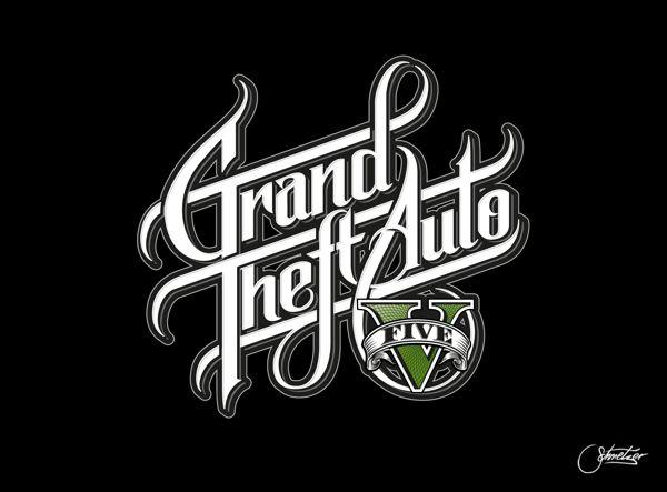 Grand Theft Auto Grand Theft Auto Typography Inspiration