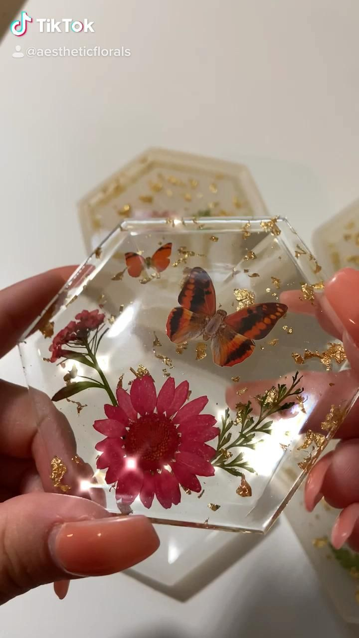 Photo of Butterfly Resin Jewelry Boxes