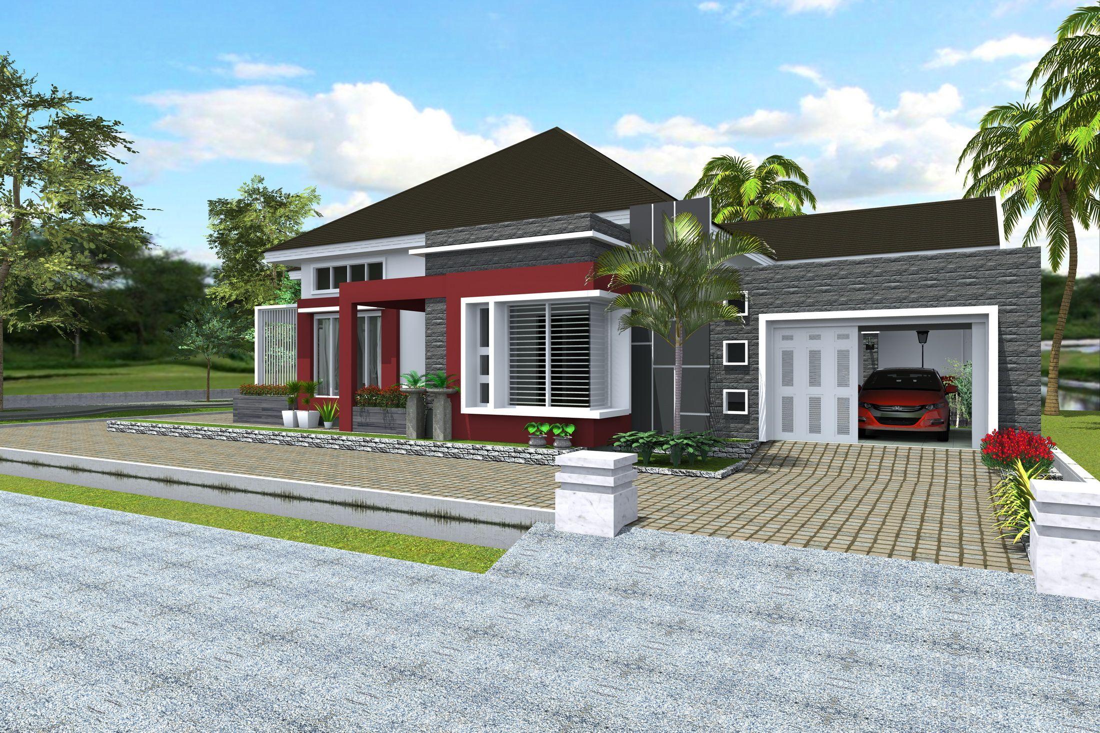 Desain Rumah Hunian Konsep Minimalis Modern Type 309 2mdesaincom Rumah Minimalis Desain Rumah Minimalis Desain Rumah