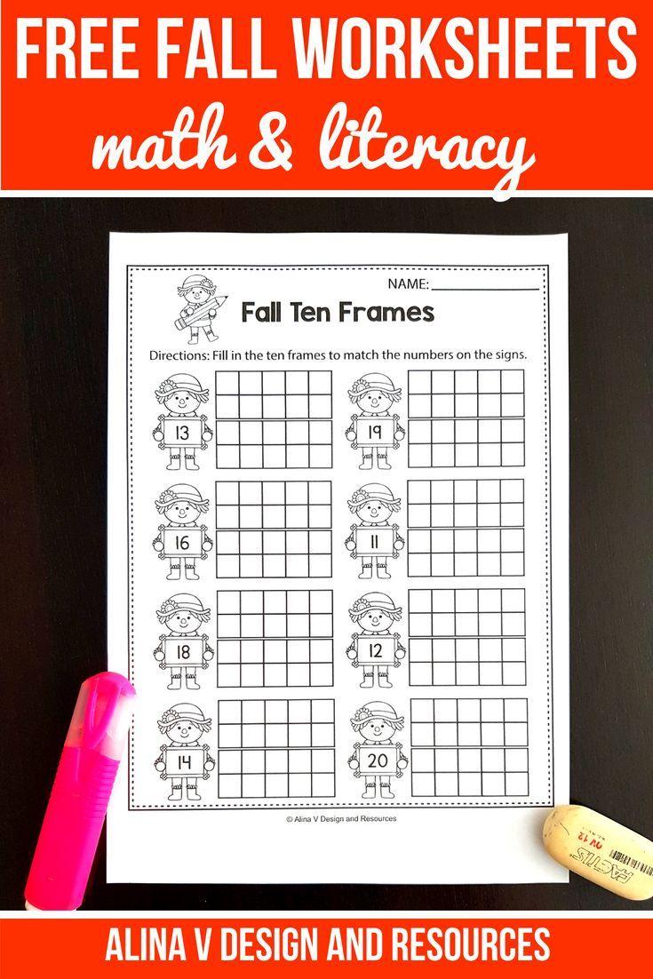 FREE Fall Activities For Kindergarten (Math & Literacy No Prep ...