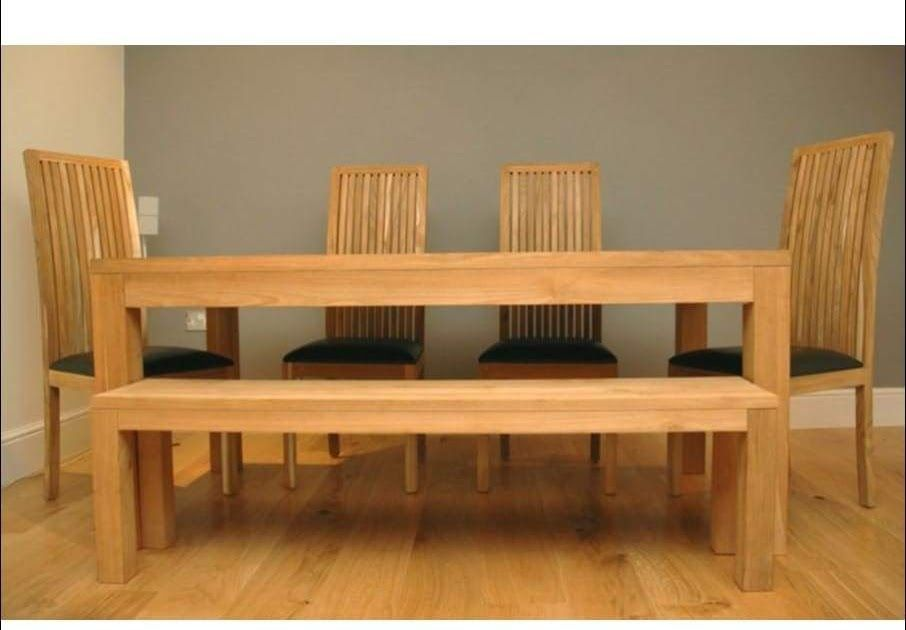 15++ 4 chair dining table with bench Best Seller
