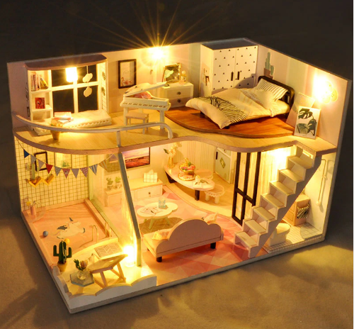 DIY Toy Penthaus Miniature Dollhouse #miniaturetoys