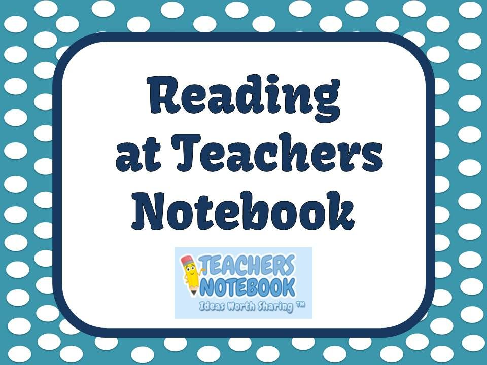 Reading Teacher Products for sale and for #Free located at Teachers Notebook.