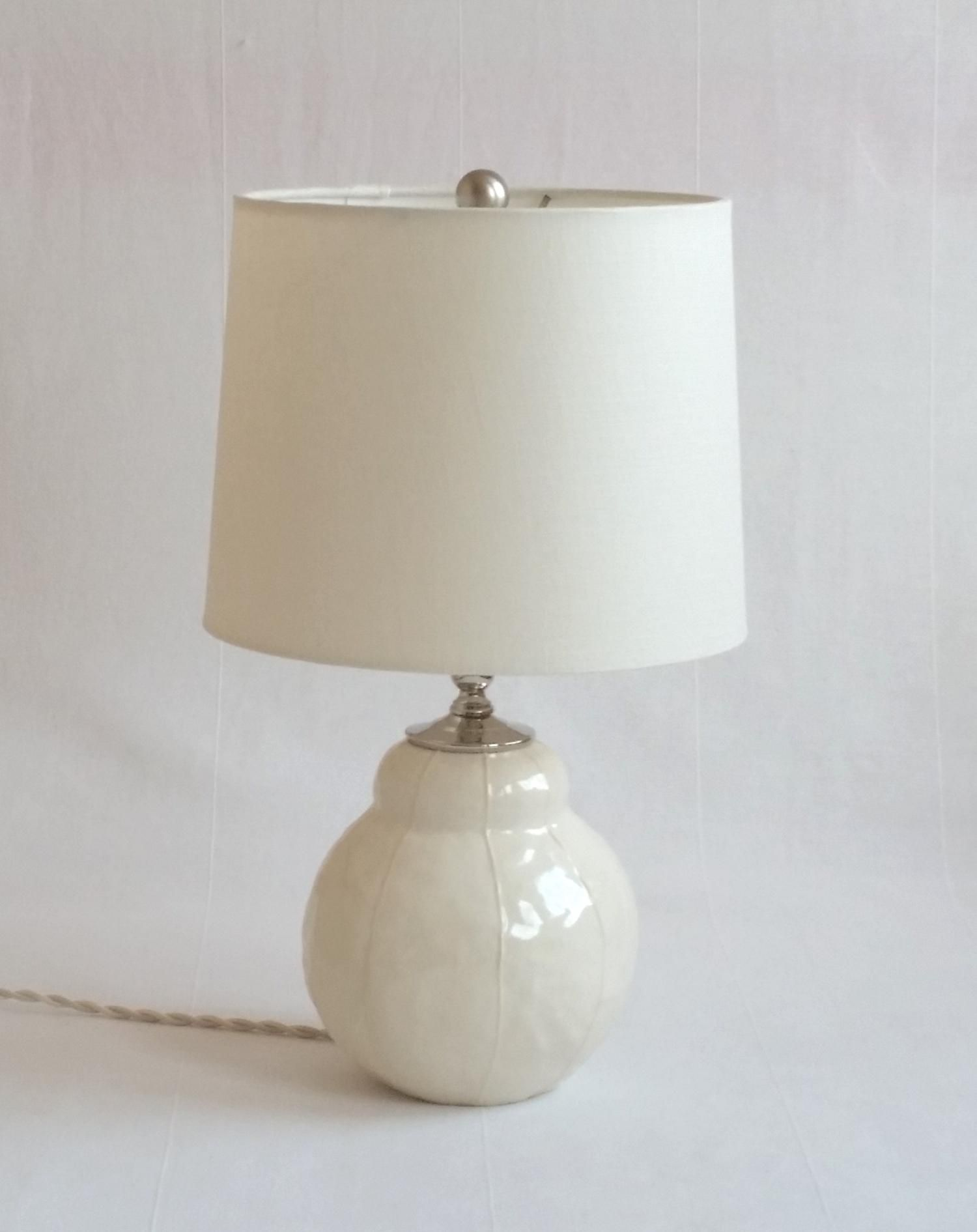 Vit Ceramics Bubble Lamp Drum Shade White Contemporary Pottery Lamp Base Modern Handmade Kri Kri Studio Seattle Lamp Pottery Lamp Bubble Lamps