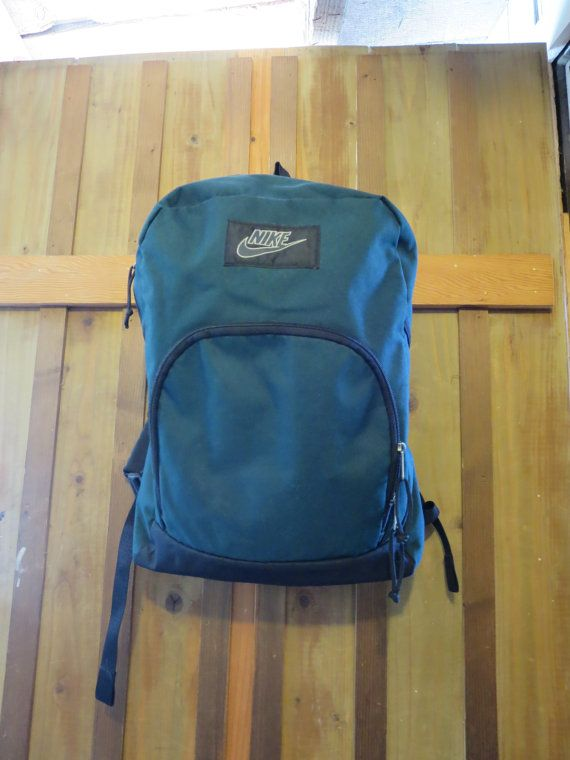 Vintage Nike Backpack Green Nike Daypack Back Pack