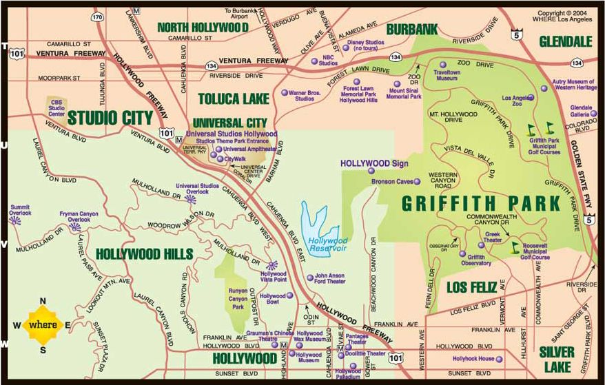 Los angeles map neighborhoods guide to the absolute for Must sees in los angeles