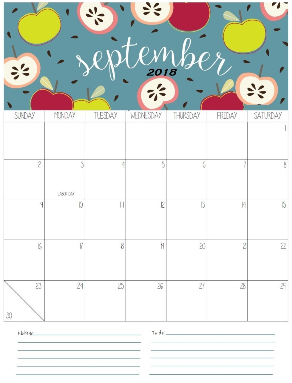 Printable September 2018 Holidays Calendar | Calendar 2018
