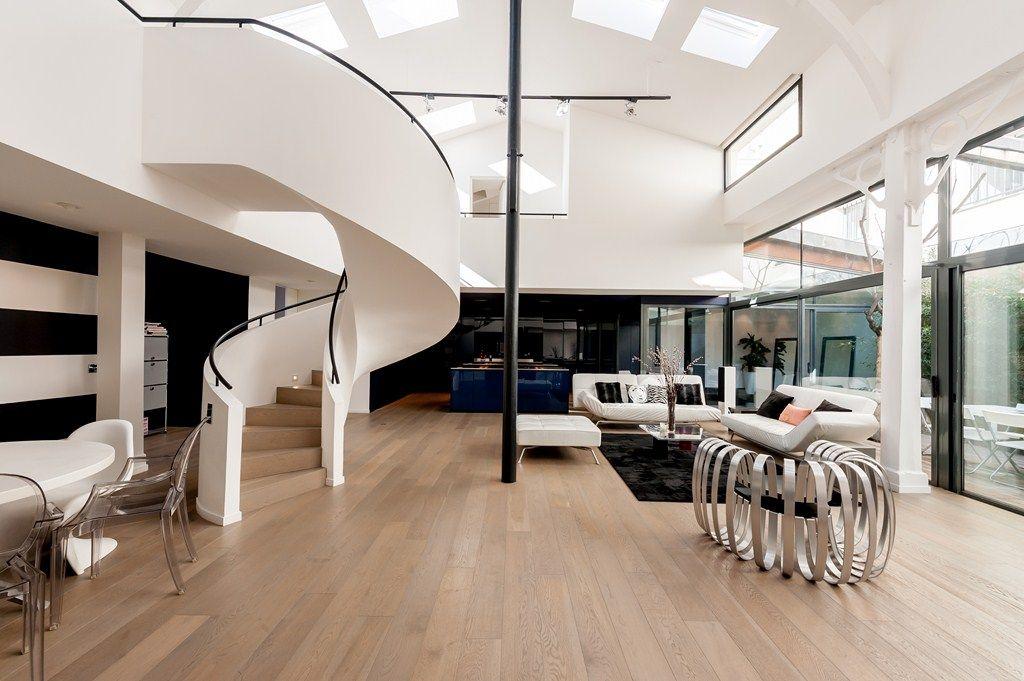 Agence Immobiliere Paris Rive Droite Espaces Atypiques Plan Maison Contemporaine Plan De Maison Originale Architecture D Interieur