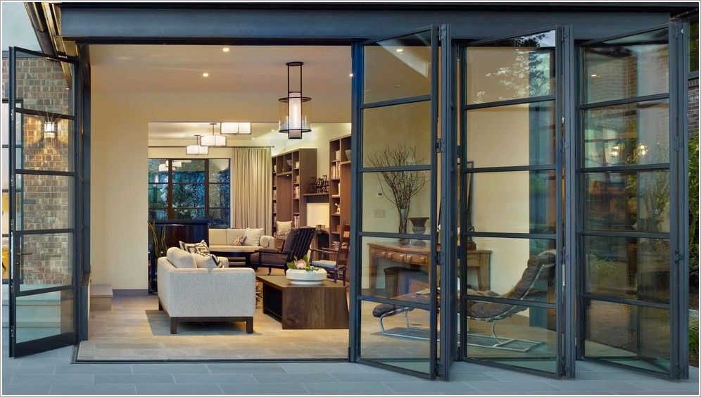 For An Open An Airy Feel Folding Sliding Glass Doors Are A Must For A Home A Patio Should Have The R Modern Patio Doors Folding Patio Doors Glass Doors Patio