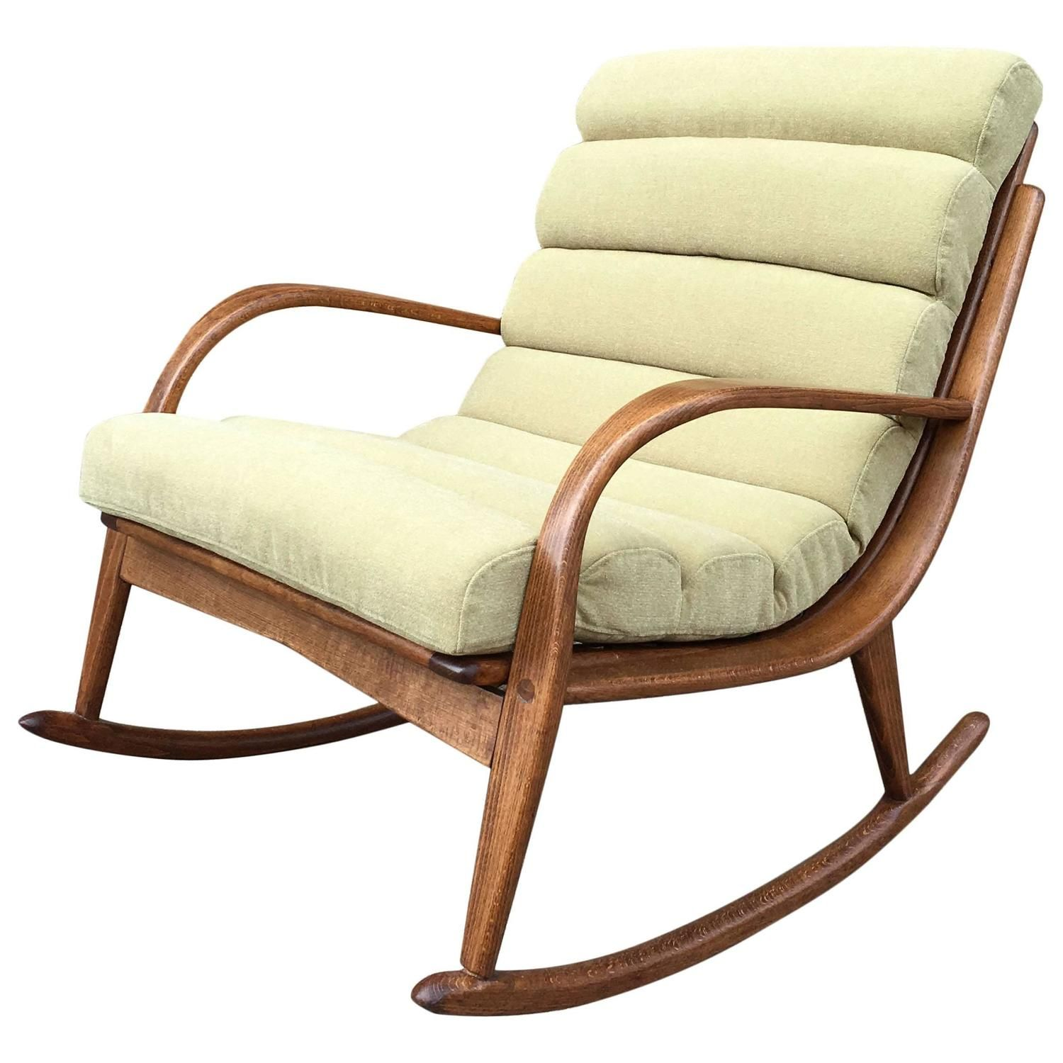 Upholstered rocking chairs extremely rare danish modern bentwood upholstered rocking chair