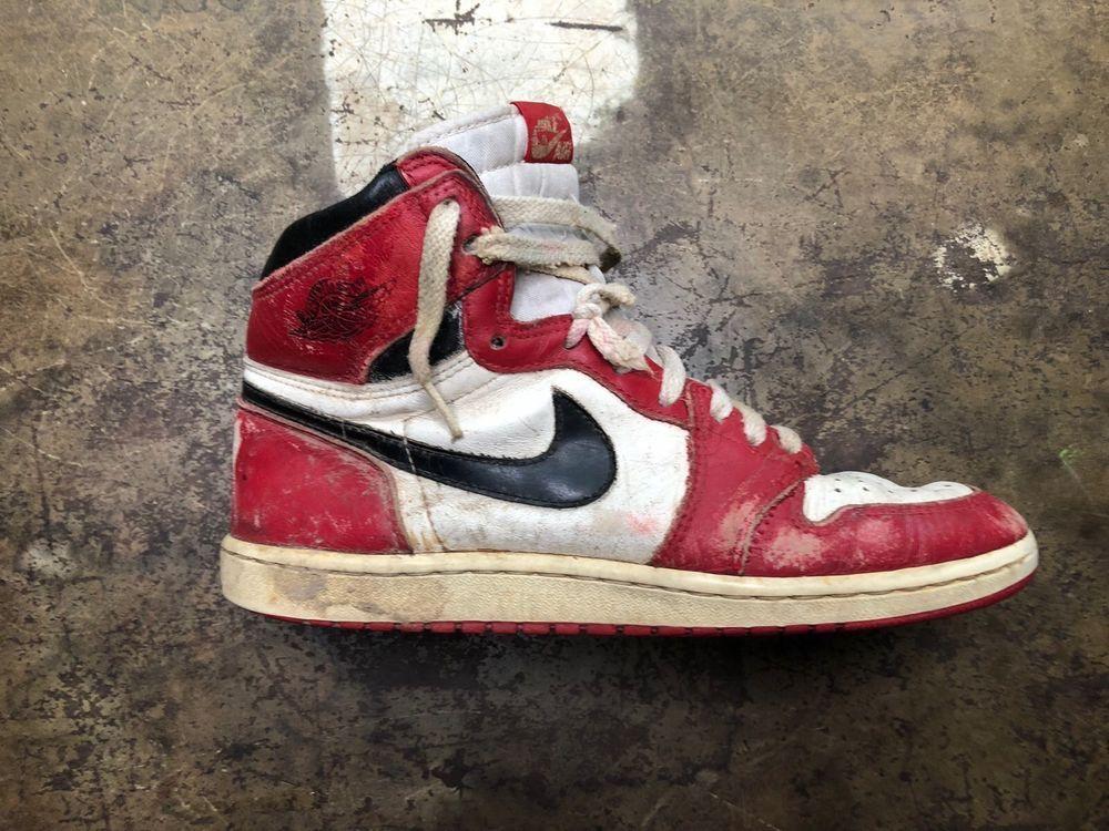 Nike Air Jordan Vintage 1985 Shoe Single Distressed Sneaker Nike Sneakers Air Jordans Vintage Shoes