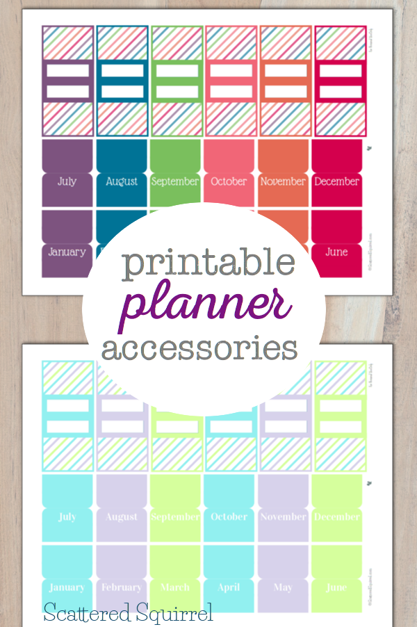 Pretty Printable Planner Accessories {Personal Planners ...