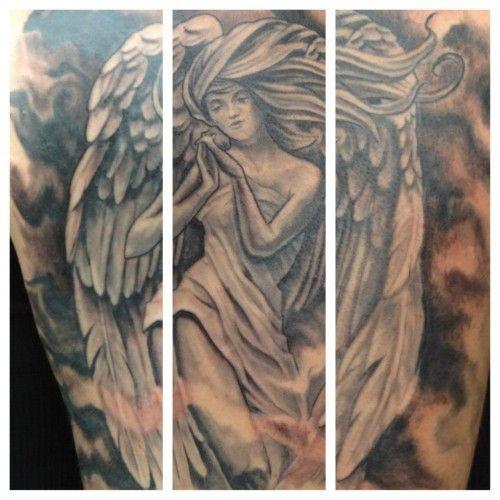 Tatouage Ange Gardien Bras Complet Homme Tattoomoi Com Tot6e5261