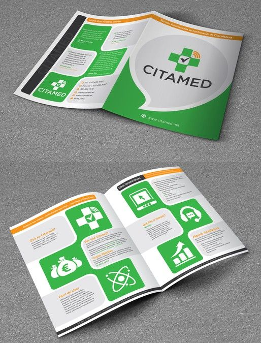 Create An Attention Grabbing Brochure For A Medical Software