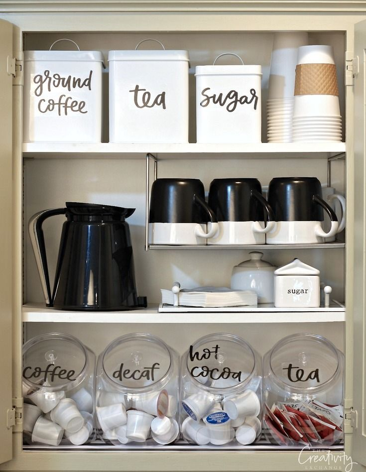 Use our hand lettered free printable pantry labels to create an use our hand lettered free printable pantry labels to create an organized coffee cabinet and pantry workwithnaturefo