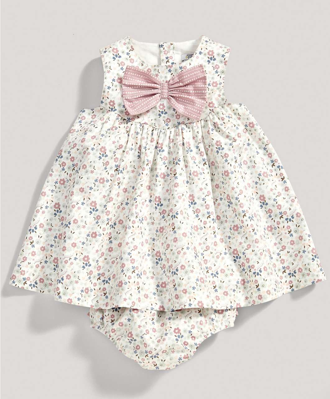 447fb7e9ce Girls Floral Bow Dress and Knickers Set - New Arrivals - Mamas & Papas