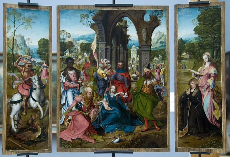Adoration Of The Magi By The Antwerp Mannerist Painting Museum Of Fine Arts Art