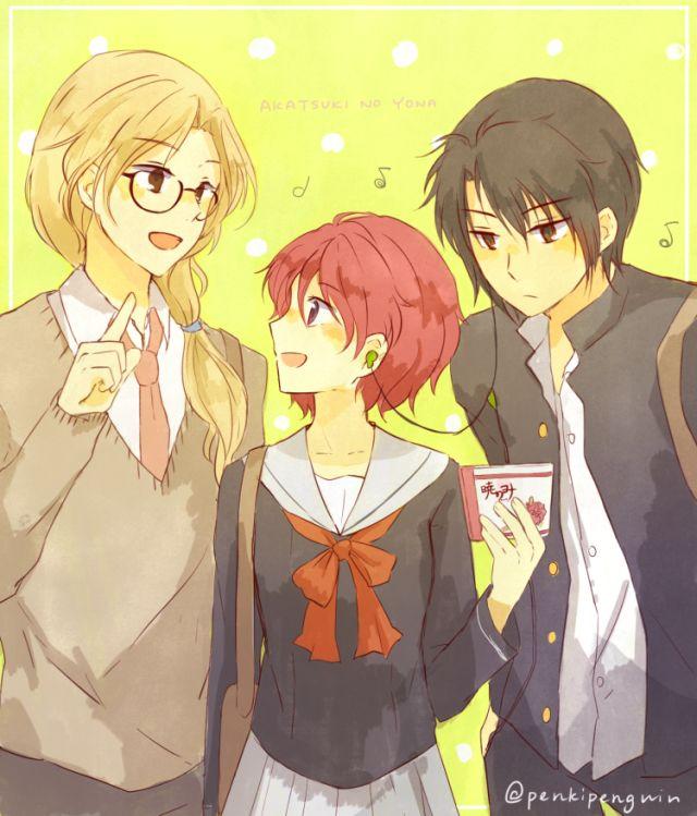 Akatsuki No Yona THERE SHARING HEADPHONES!!!!!! Squeeeeee THIS SHIP WILL KILL ME