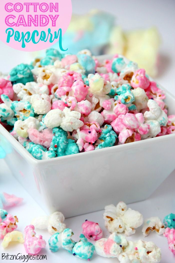 Cotton Candy Popcorn Candy coated popcorn