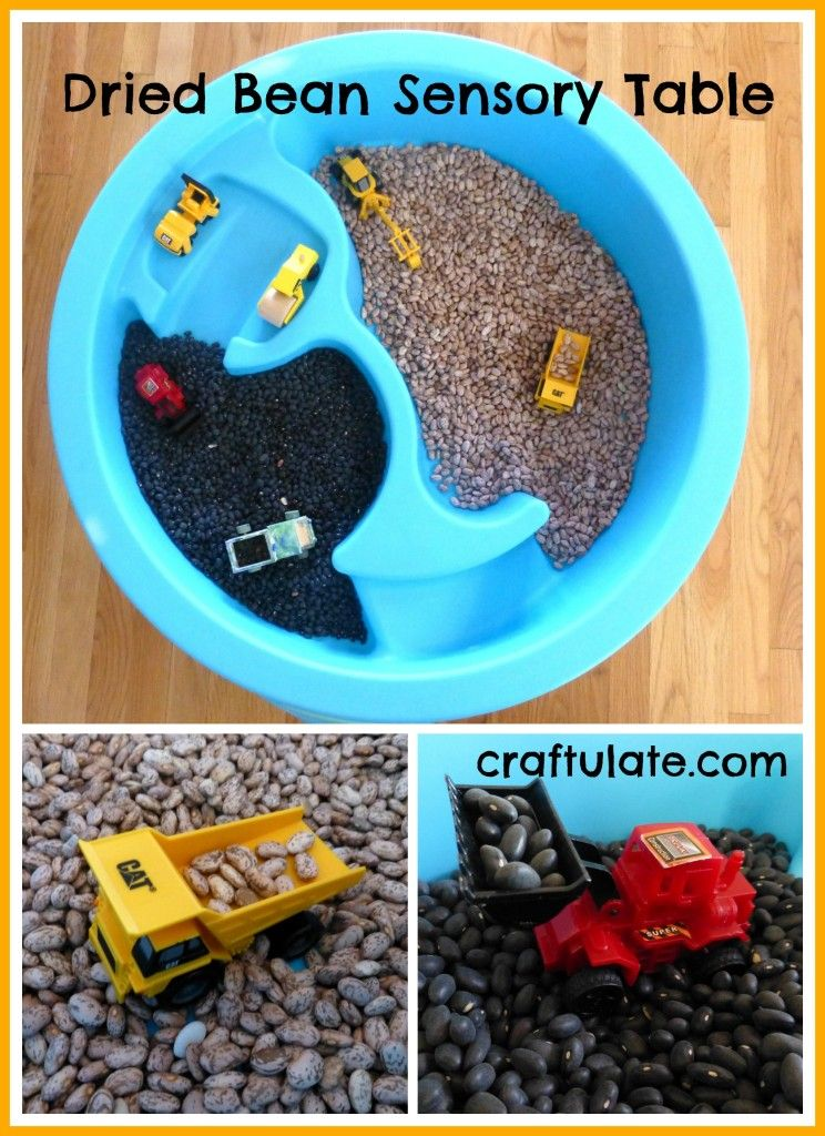 Bring in water table for winter and do this indoors when it's just to cold to go out. Craftulate: Dried Bean Sensory Table