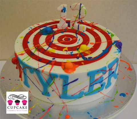 Paintball Cupcakes Auckland Wedding Cakes Birthday Cakes Cupcakes Diy Birthday Cake Party Cakes Paintball Cake